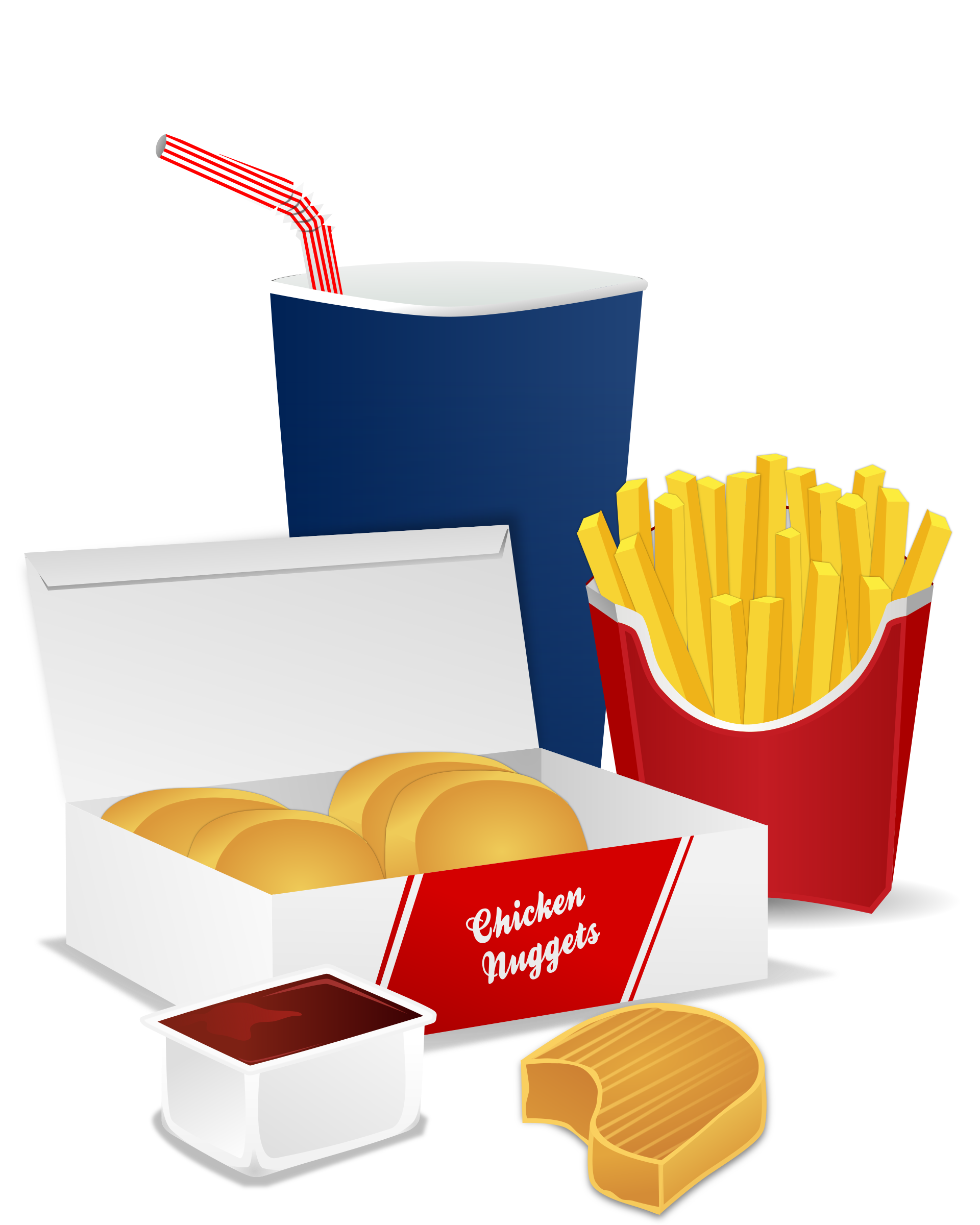 1920x2400 Fast Food Meal Vector Clipart Image