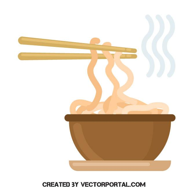 660x660 Noodles Meal Vector Clip Art