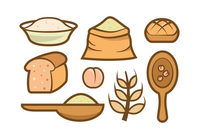700x490 Oats Meal Vector Icons