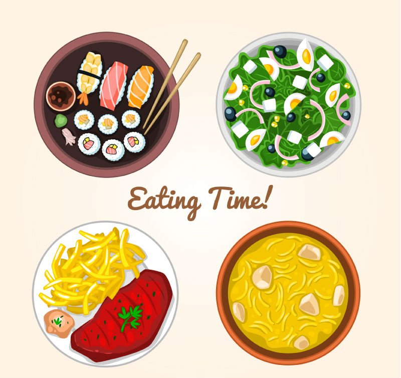 800x754 4 Delicious Meal Vector Material Four,delicious,meal,vector,foo