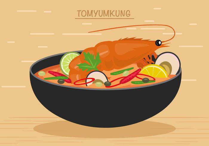 700x490 Thai Seafood Meal Vector