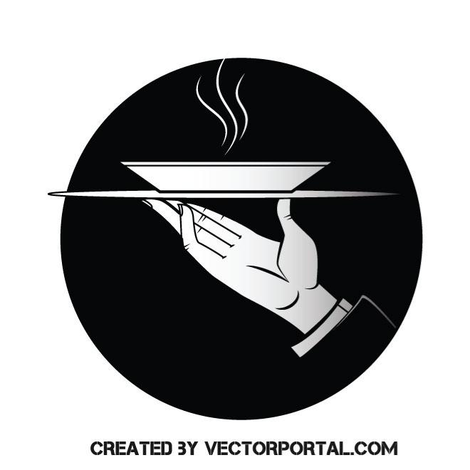 660x660 Waiter Vector Clip Art