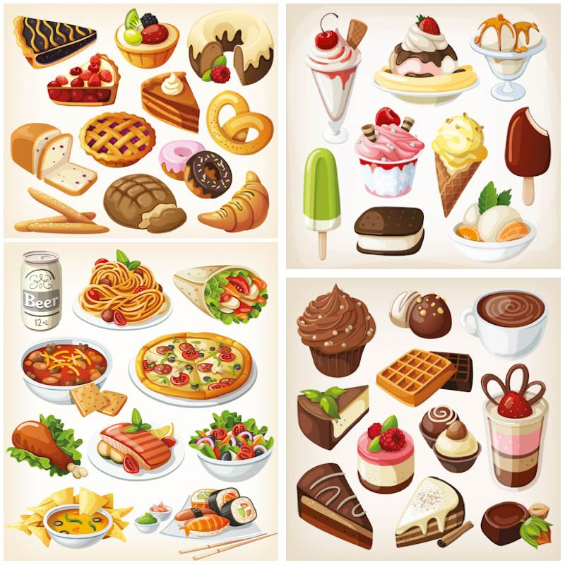 800x800 42 Vector Food Images Vector Graphics Blog Food Art