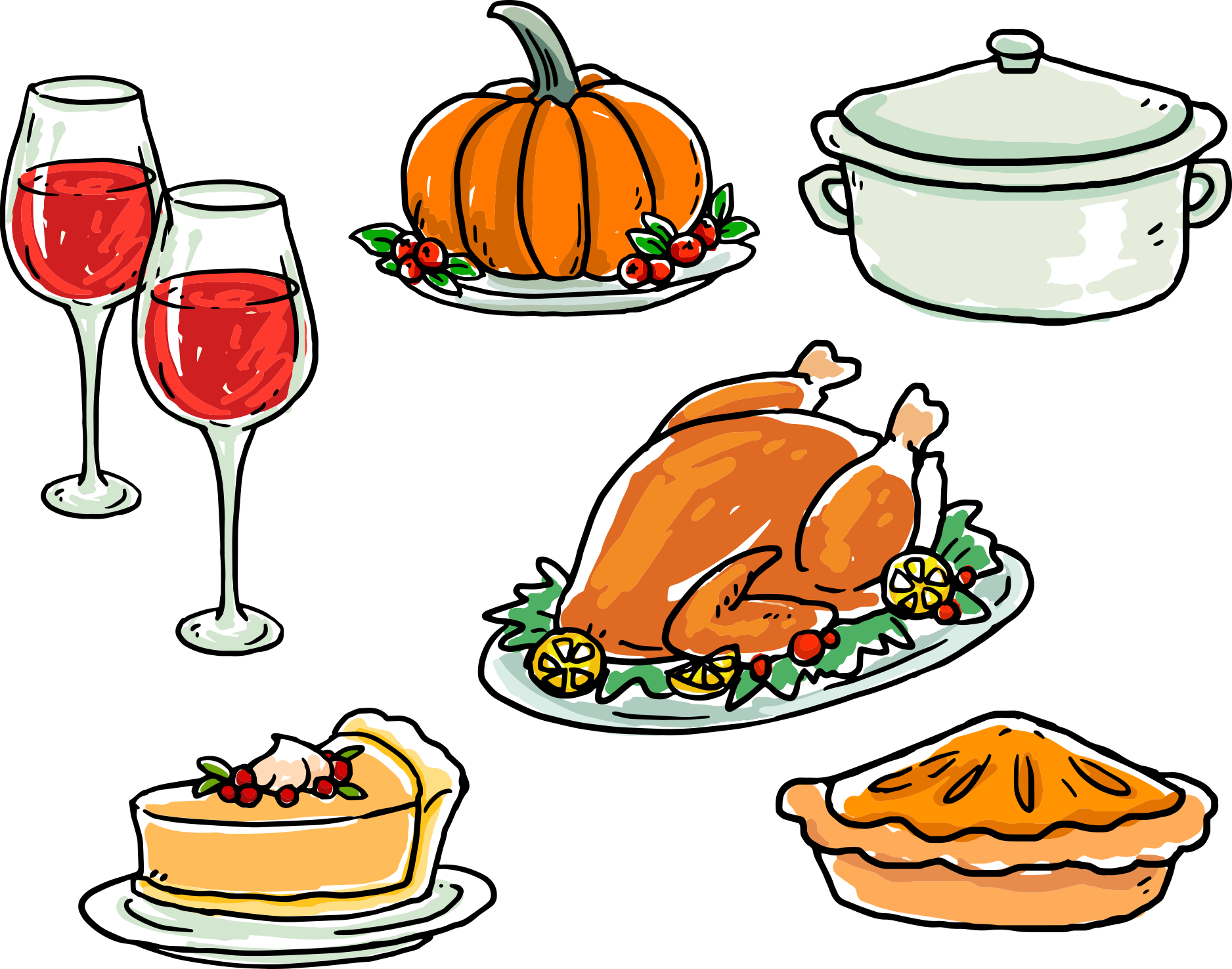 1876x1476 Collection Of Free Thanksgiving Vector Meal. Download On Ubisafe