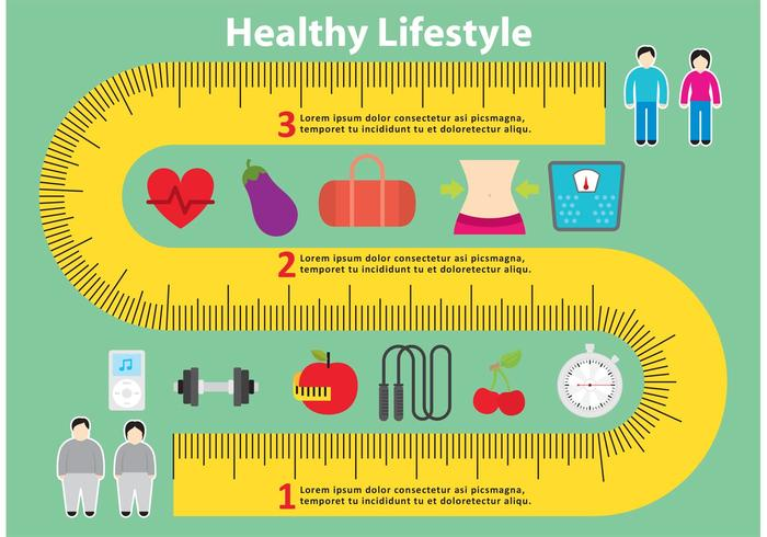 700x490 Healthy Measuring Tape Vector Background