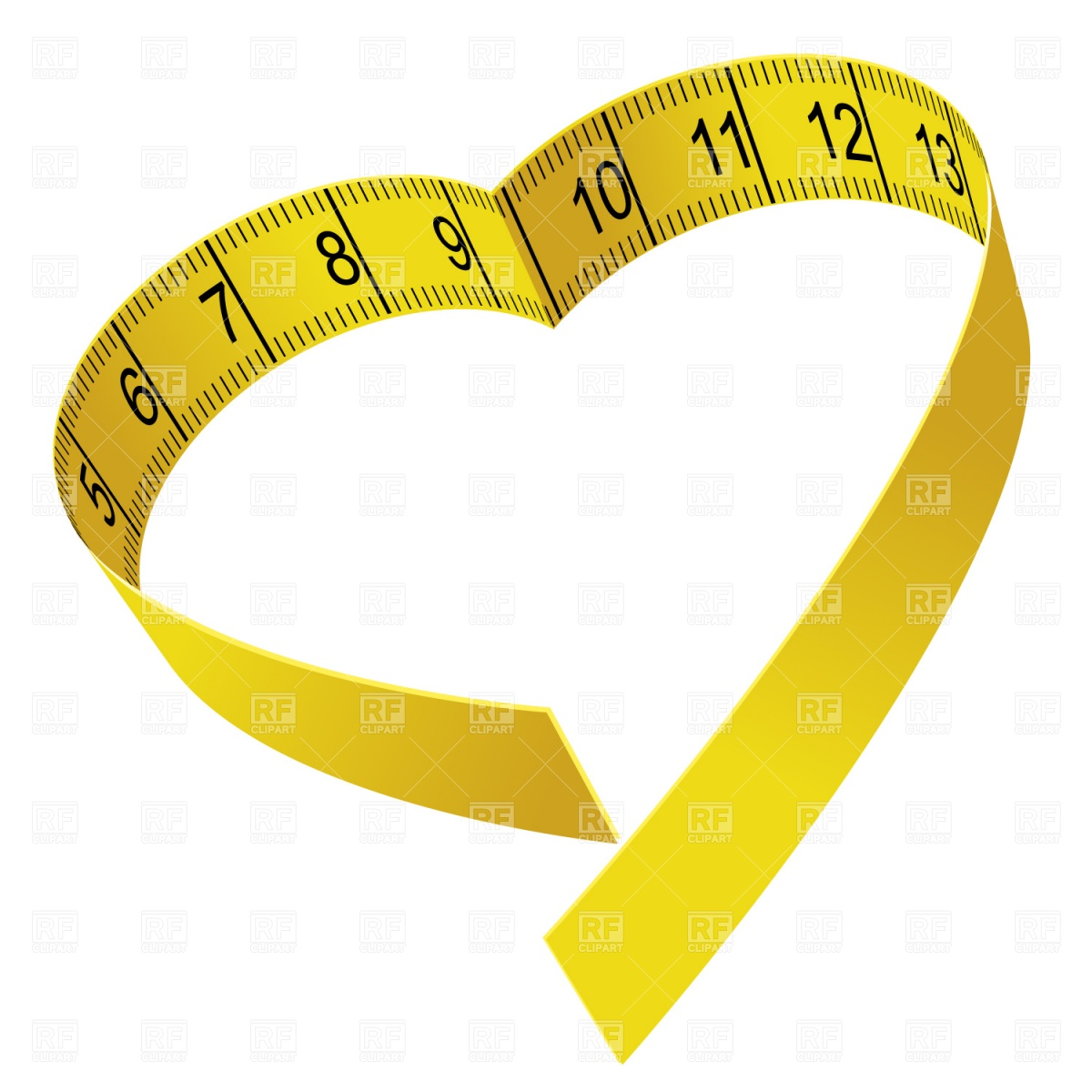1200x1200 Heart Shaped Tape Measure Vector Image Vector Artwork Of Sport
