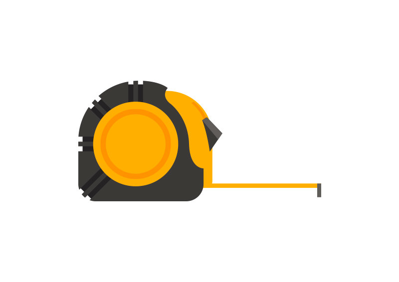 800x566 Measuring Tape Flat Vector