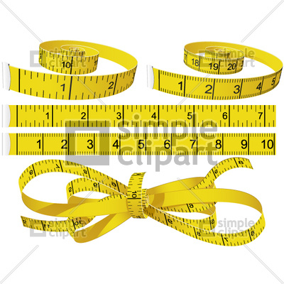 400x400 Measuring Tapes Vector Image