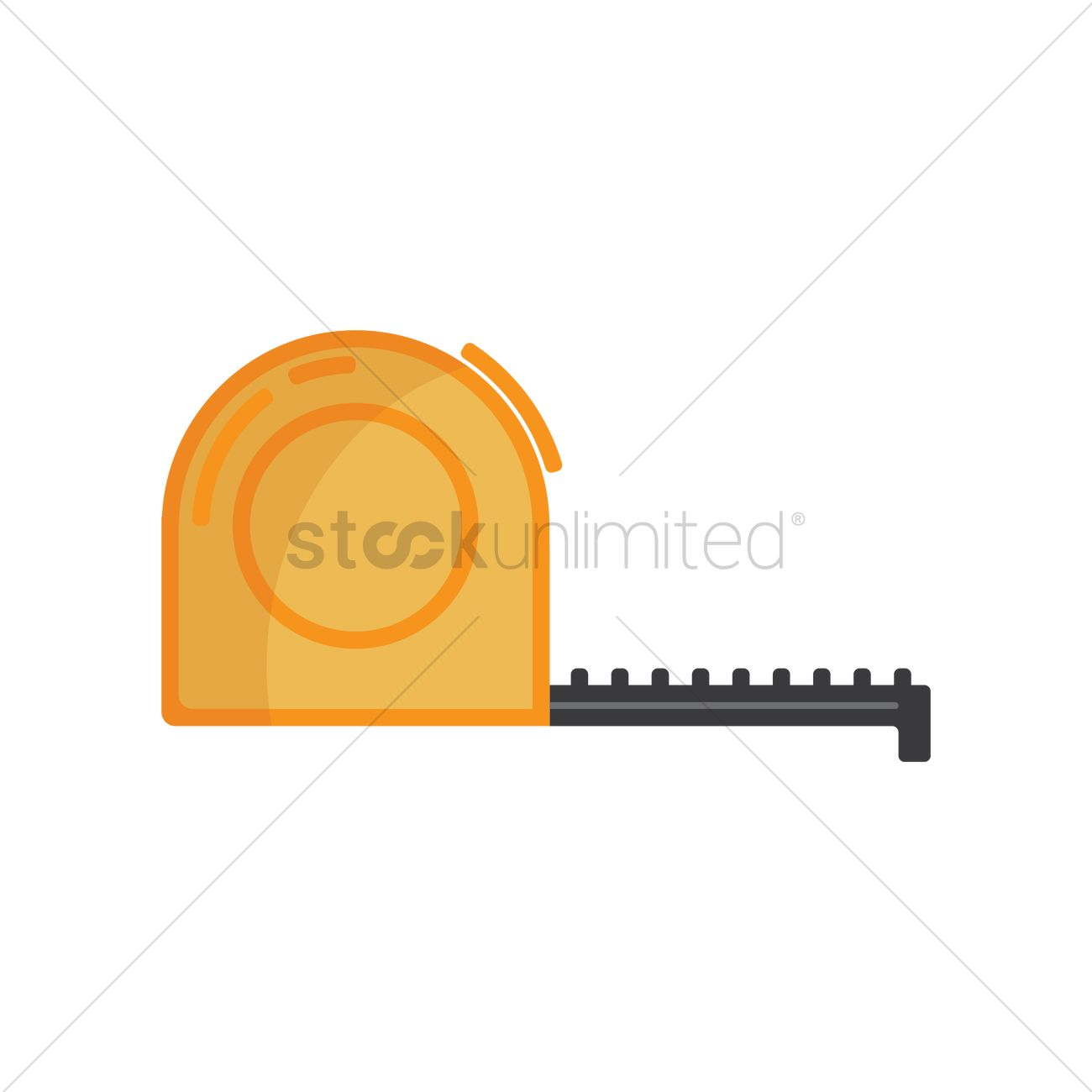 1300x1300 Measuring Tape Vector Image