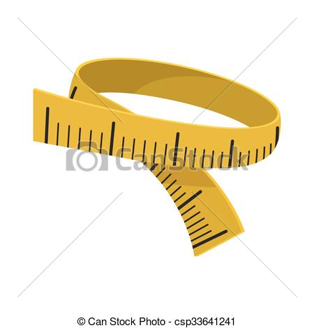 450x470 Measuring Tape Cartoon Icon On A White Background.