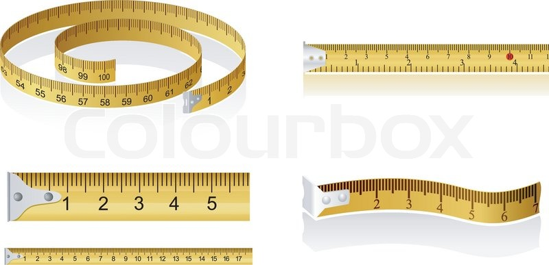 800x387 Set Of Measuring Tapes Stock Vector Colourbox