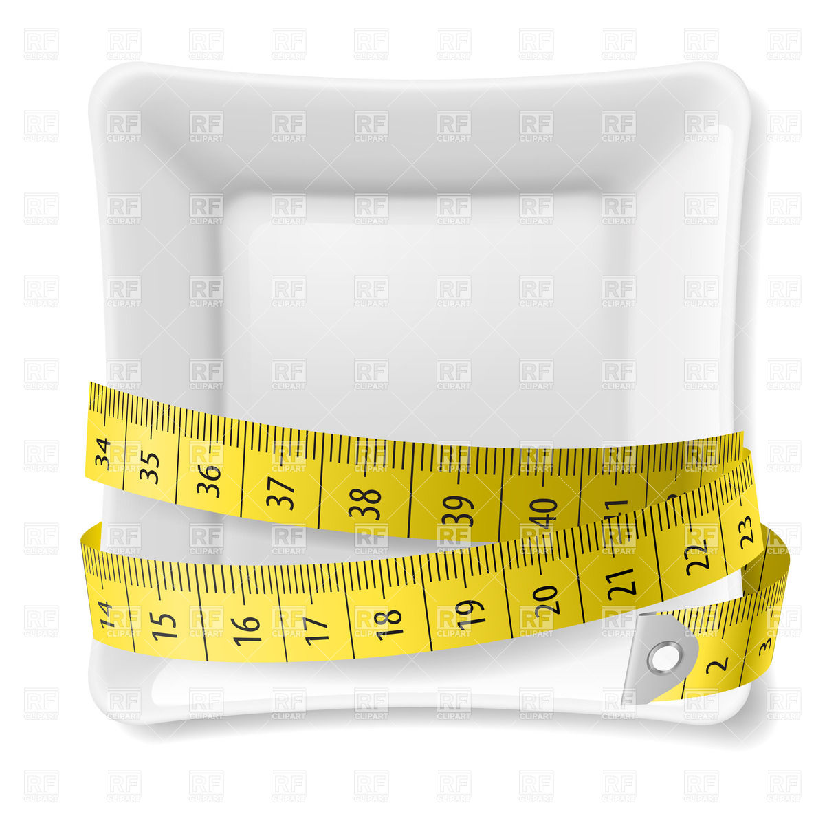 1200x1200 Square Plate With Tape Measure Vector Image Vector Artwork Of