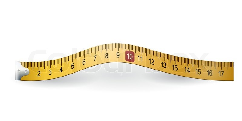 800x400 Yellow Measuring Tape Stock Vector Colourbox