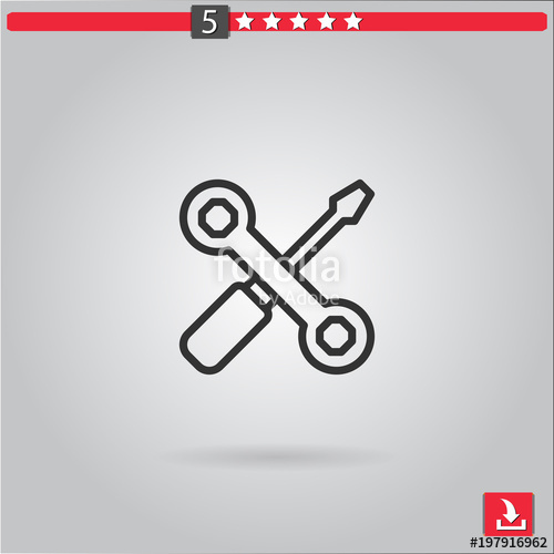 500x500 Repair Tools Vector Icon Stock Image And Royalty Free Vector