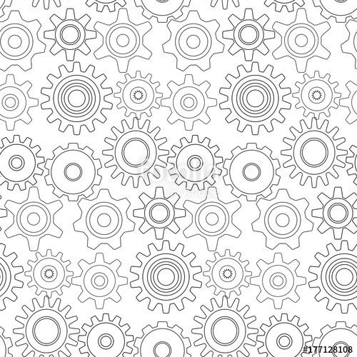 500x500 A Mechanical Vector Background With Gears And Cogs. Vector