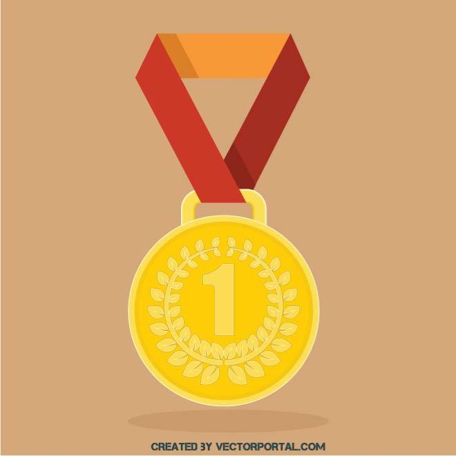 660x660 Gold Medal Vector Image