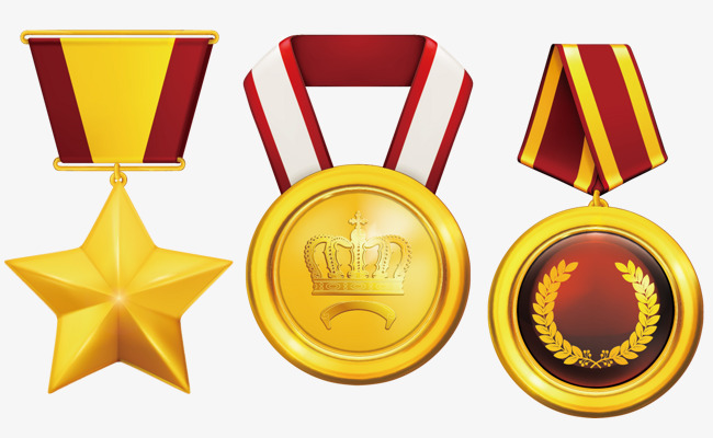 650x400 Gold Medal Badge Posters Element, Gold Vector, Badge Vector