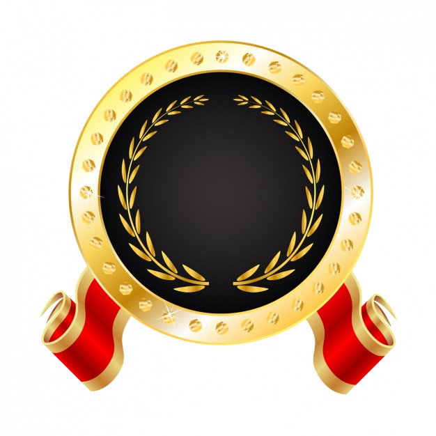 626x626 Realistic Golden Medal Vector Free Download