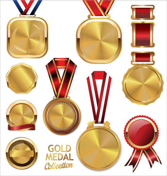 539x569 Various Gold Medal Vector Set Free Vector In Encapsulated
