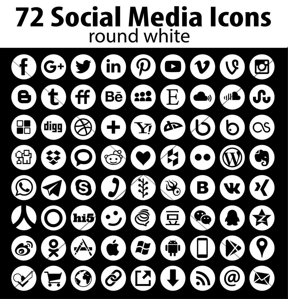 987x1024 Round Social Media Icons