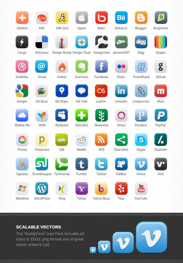 600x862 23 Free Vector Icon Packs For Social Media