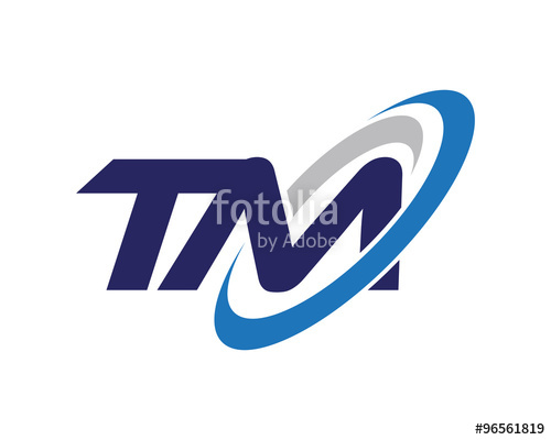 500x400 Tm Letter Swoosh Media Logo Stock Image And Royalty Free Vector