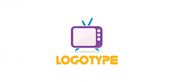 626x288 Free Media Logo Template With A Retro Tv Psd File Free Download