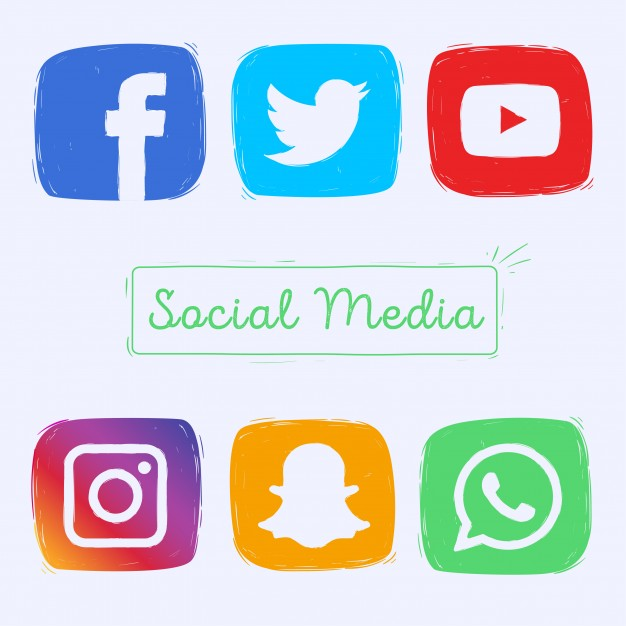 626x626 Hand Drawn Social Media Icons Vector Free Download