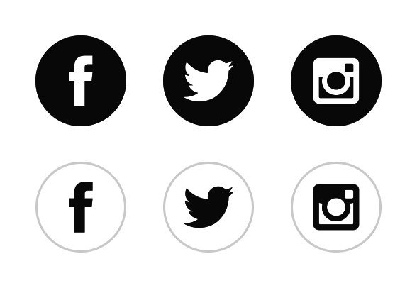 588x406 Free Black White Vector For Social Media Social Media Logo Vector