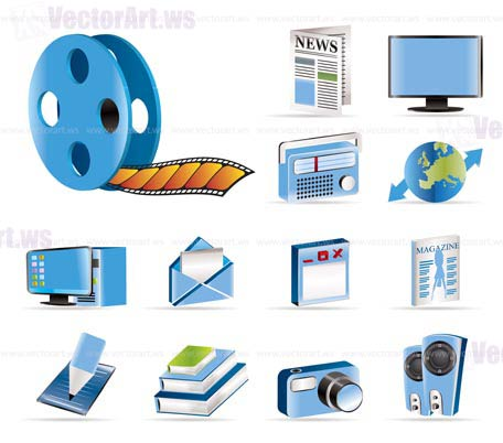 456x402 Media And Information Icons