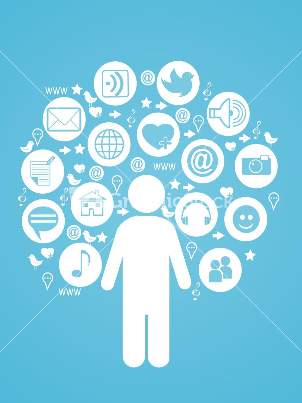 1000x1334 Social Media Person Vector Image