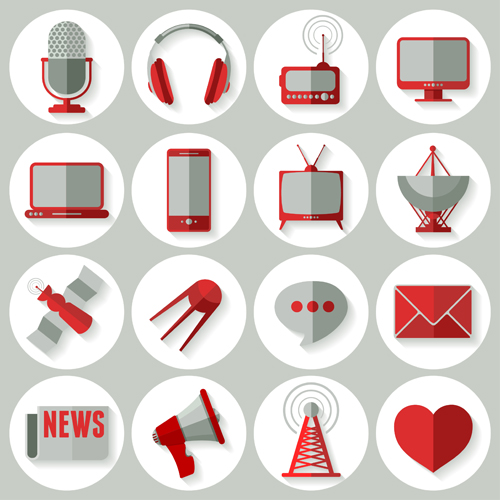 500x500 Social Media Icons Red Style Vector 01 Free Download