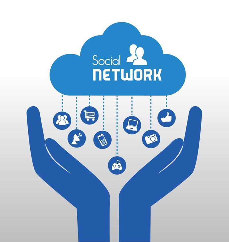 800x844 Social Media Network Vectors