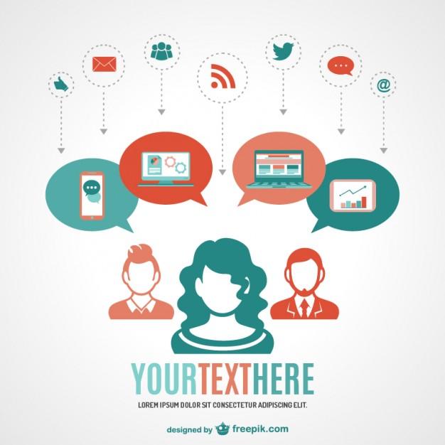 626x626 Social Media Online Network Vector Free Download