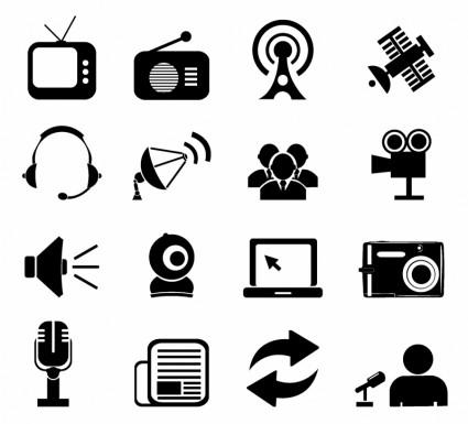 425x385 Vector Mass Media Icons Icon Vector Graphics
