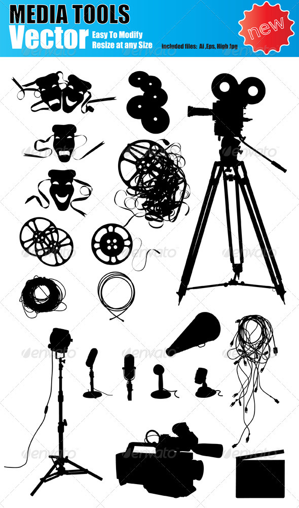 590x1000 Vector Media Device Silhouette Set By Ozgers Graphicriver