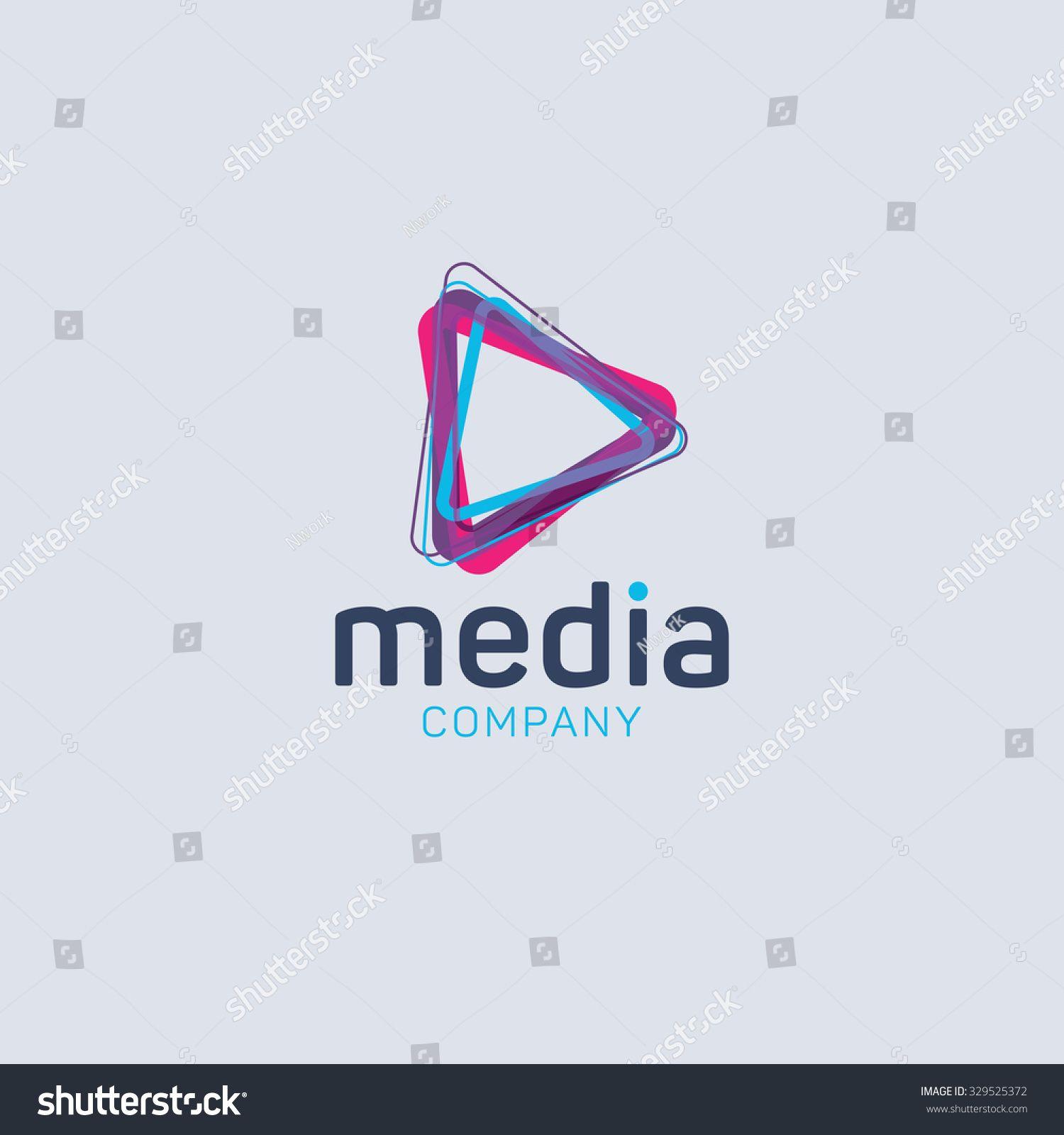 1500x1600 Abstract Colored Vector Logo. Play Logo. Media Logo. Multimedia