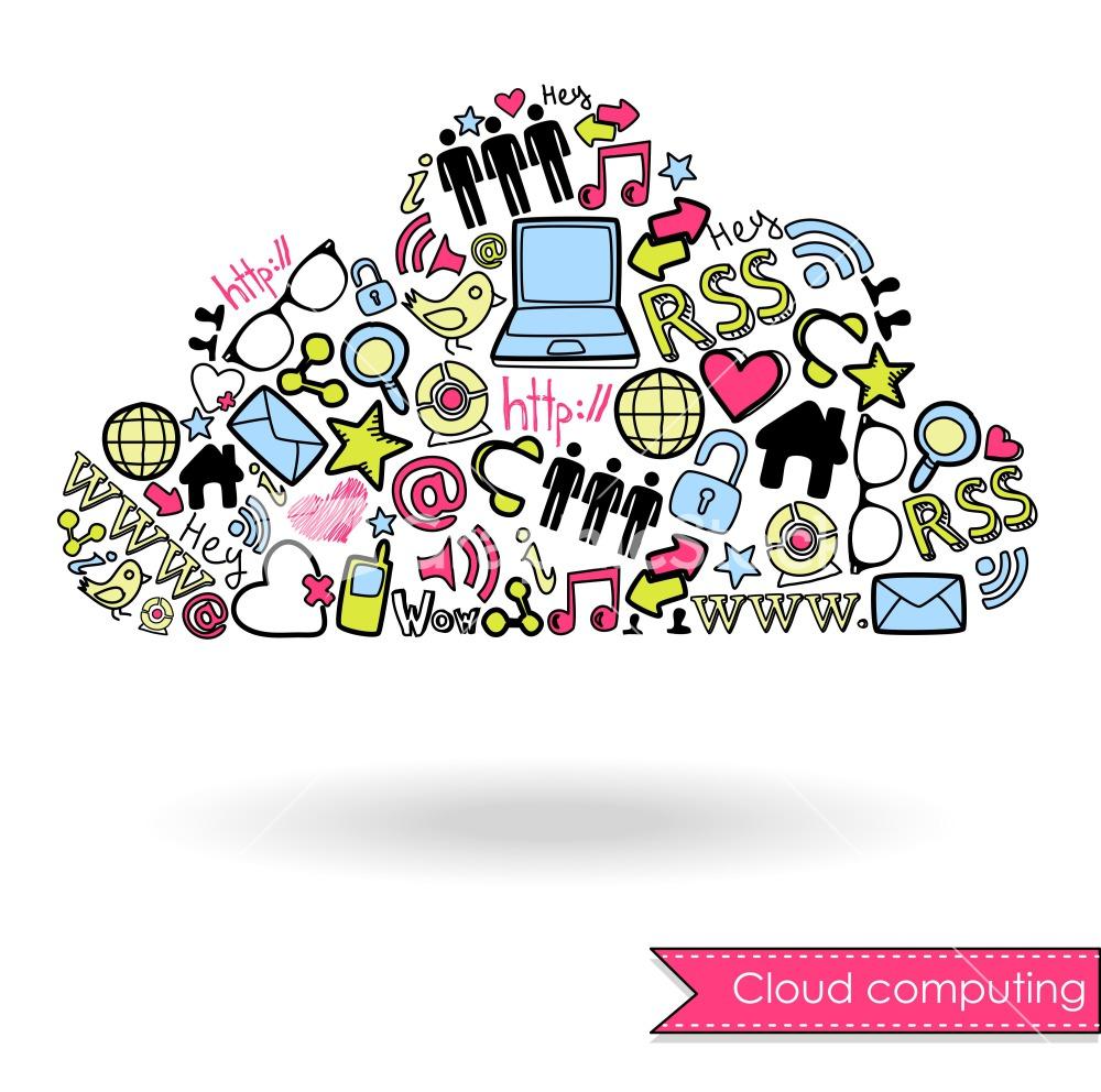 1000x992 Cloud Social Media Vector Art