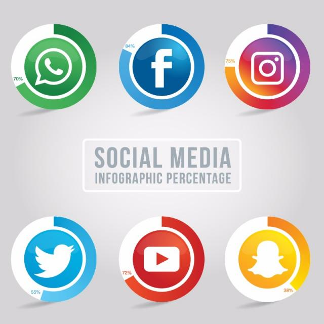 640x640 Collection Of Rounded Social Media Icons, Style, Icon, Collection
