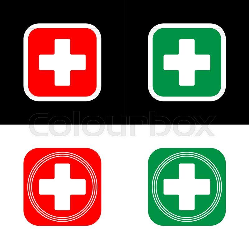 800x800 Medical Cross, Vector Icon Of Medical Cross, Flat Illustration