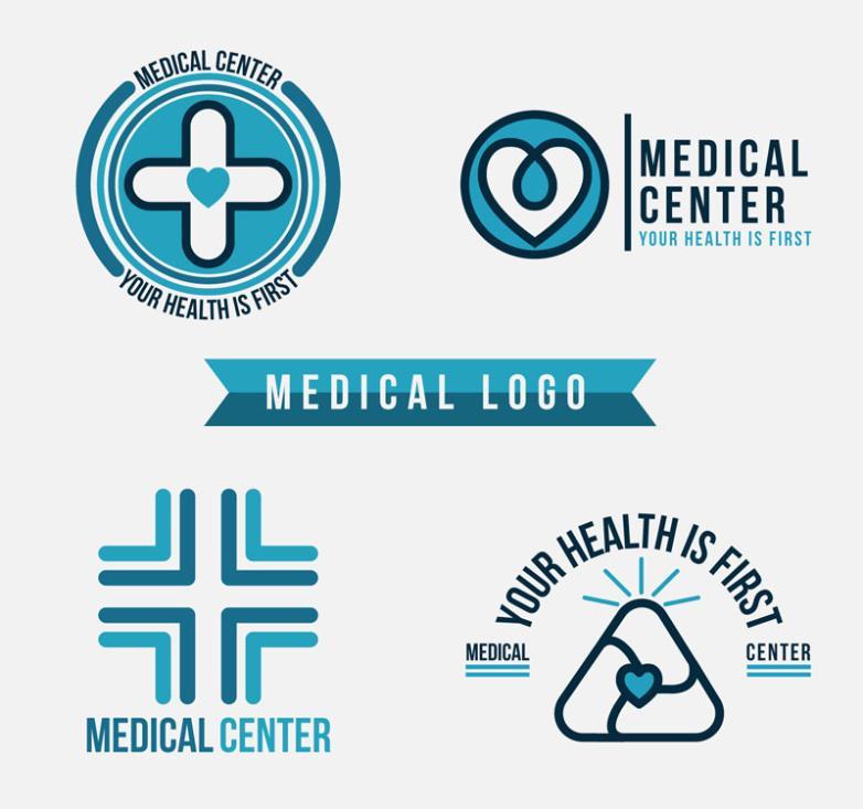 782x733 4 Creative Medical Logo Vector Free Vector Graphic Download