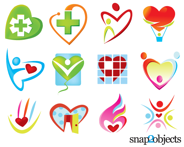 600x480 Free Vector Heart Shaped Logo Templates 123freevectors