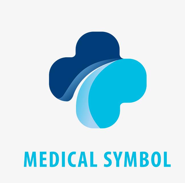 650x642 Blue Medical Logo, Blue Vector, Medical Vector, Logo Vector Png