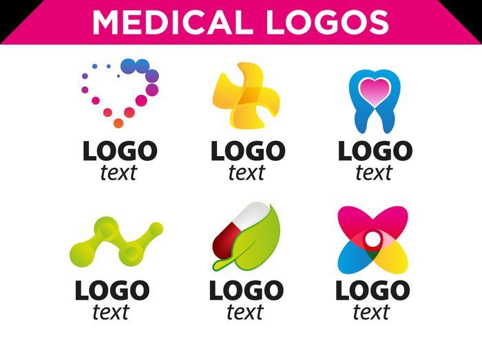 700x490 Medical Logos Templates Vector