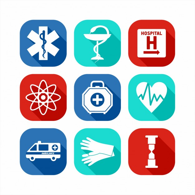 626x626 Flat Medical Icon Set Vector Free Download