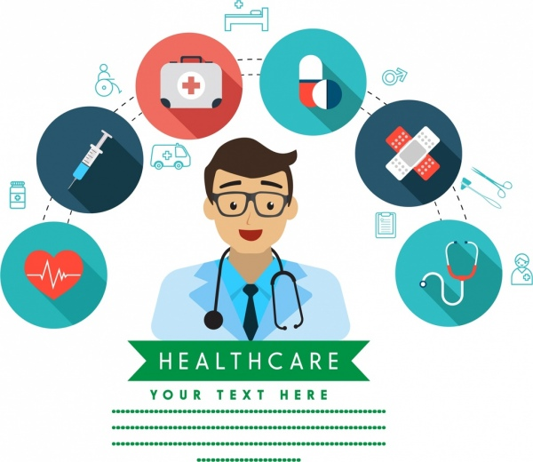 600x520 Healthcare Background Doctor Icon Medical Symbols Isolation Free