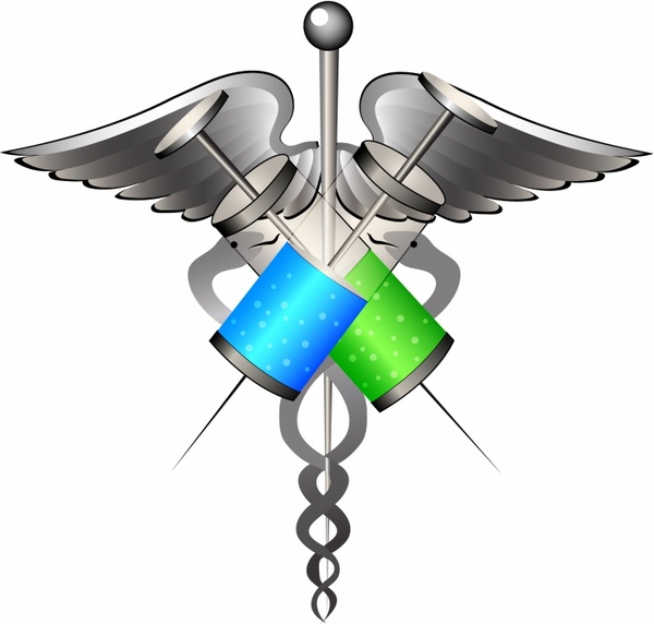 600x572 Medical Symbol With Syringes Free Vector In Adobe Illustrator Ai