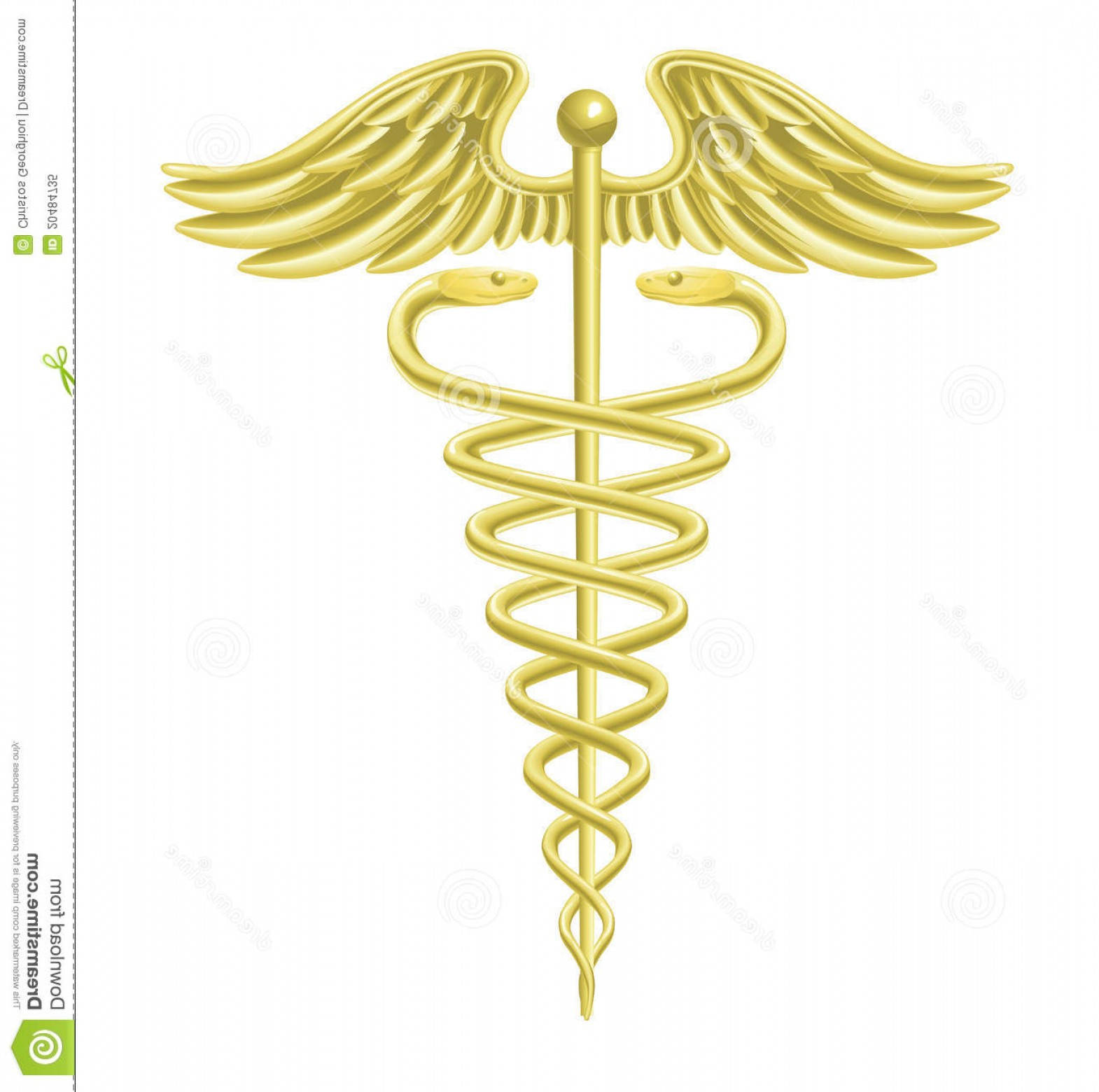 1570x1560 Royalty Free Stock Photo Caduceus Gold Medical Symbol Image