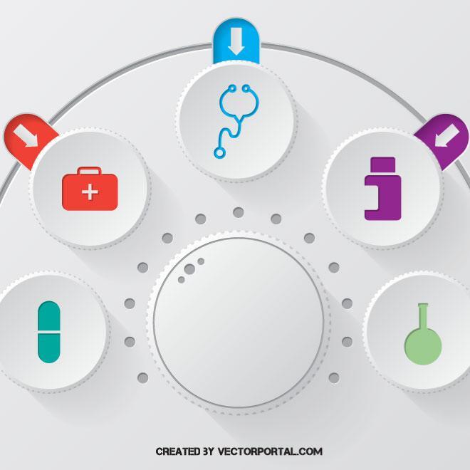 660x660 Medical Infographics Vector Art