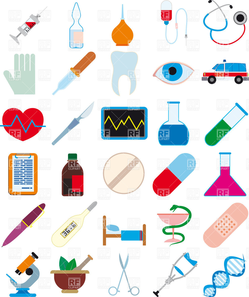 1006x1200 Medicine, Pharmaceutics And Health Care Icons Vector Image